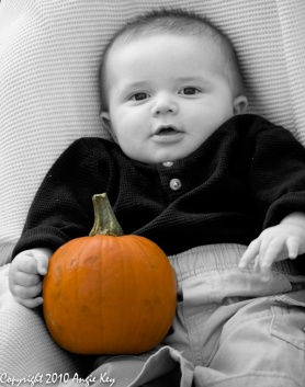 Logan's 1st Pumpkin Photo